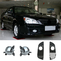 2Pc Front Grill Angel Eyes Fog Lights Driving Lamps For Mitsubish Lancer 2008 2013 With Wiring