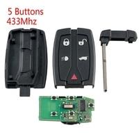 Car Smart Remote Key 5 Buttons Fit For Land Rover Freelander 2 2007-2015 433Mhz