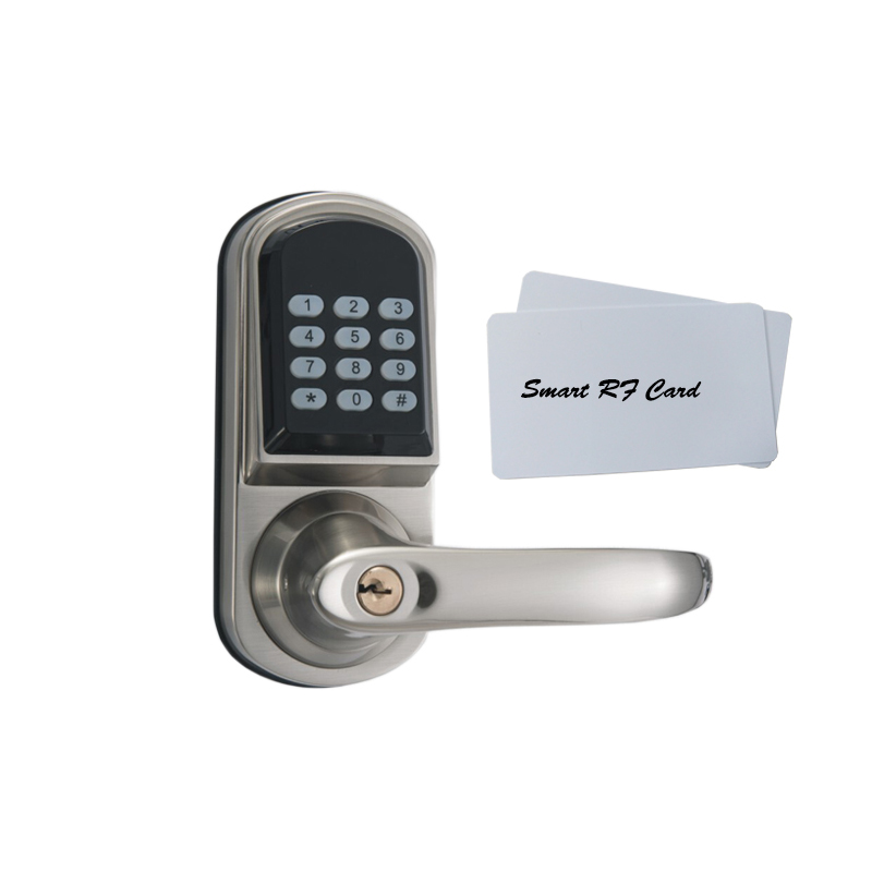 Free Shipping Keypad Code Password IC Card 13.56Mhz Unlock Access Spring Bolt Smart Electronic Door Lock Support Battery keyless digital lock keypad password code spring bolt access electronic door locks l