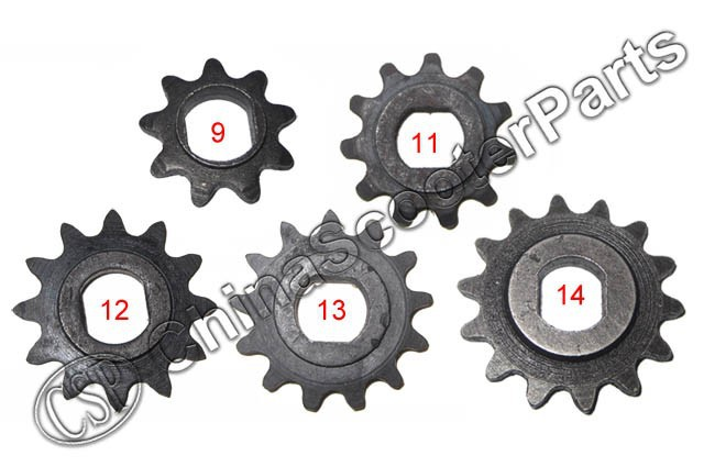 9 11 12 13 14 Tooth 9T 11T 12T 13T 14T 25H Oval 10MM Razor EVO IZIP Gear Sprocket 500W 800W 1000W E Electric Scooter Motor