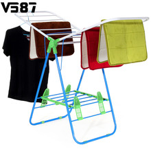 Foldable Clothes Drying Rack Garden Laundry Multifunctional Clothing Hangers Coat Drying For Home Storage Organization