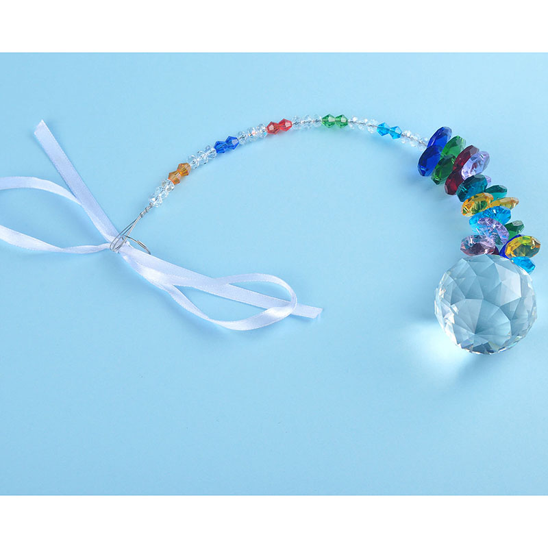 H & D 40мм Crystal Ball Prism Rainbow Chakra Hanging Suncatcher - Бақша өнімдері - фото 4