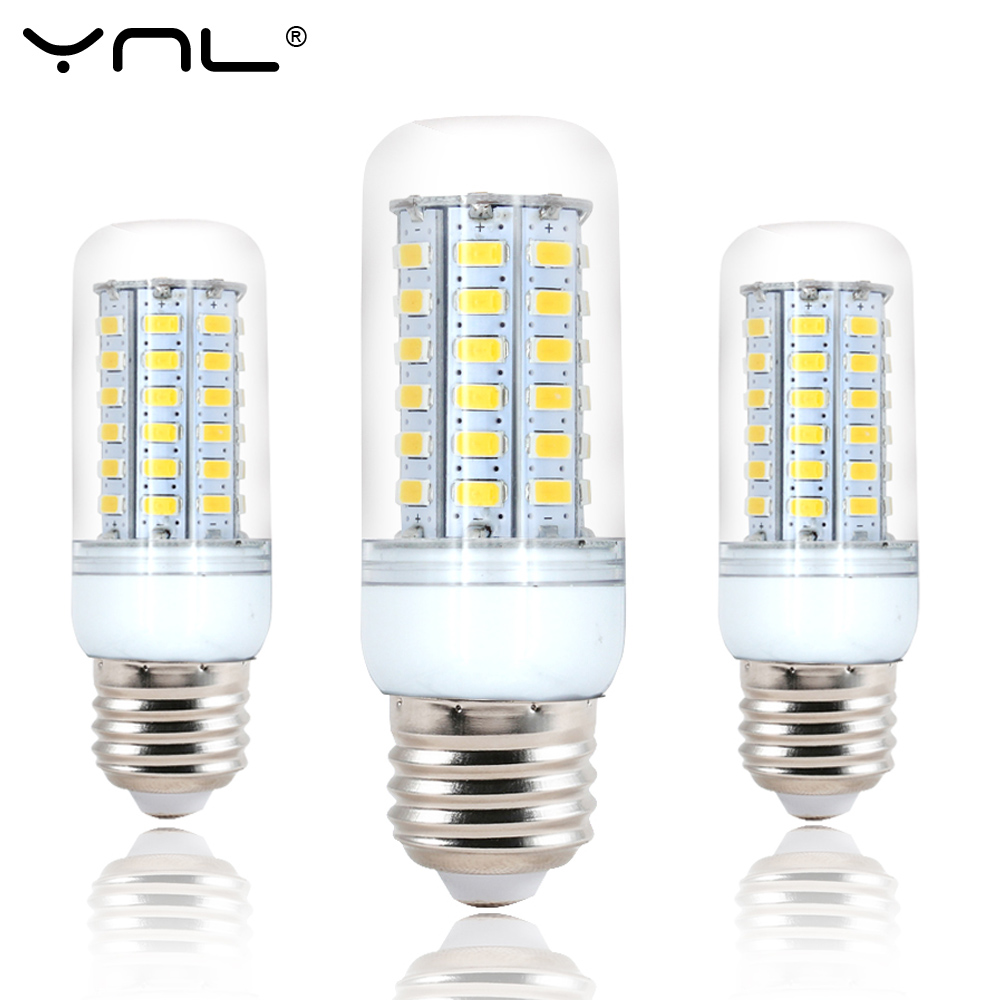 цены 10PCS/lot Led E27 Light lamp bulb 220V 24 38 48 56 69 72 96 leds SMD 5730 bombillas ampoule lampada Bulbs focos E27 led Lamps