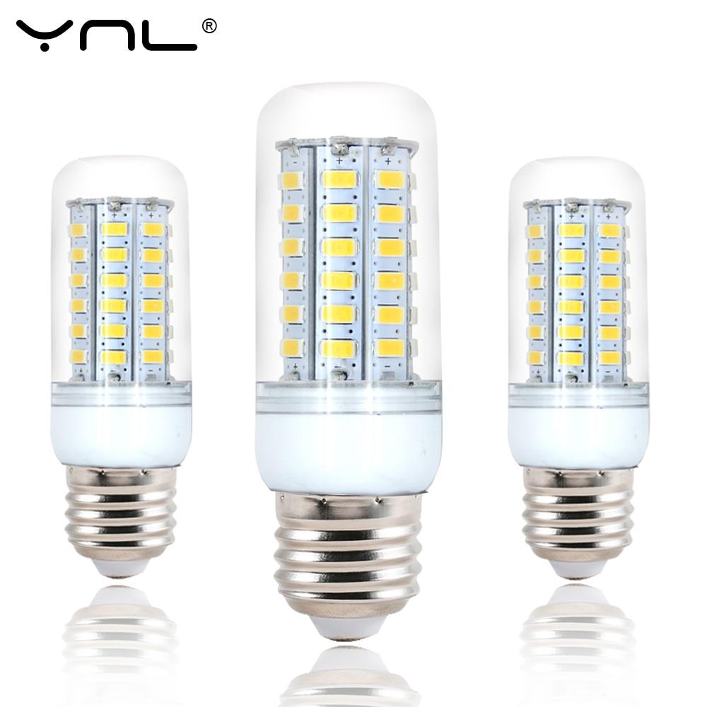 10PCS/lot Led E27 Light lamp bulb 220V 24 38 48 56 69 72 96 leds SMD 5730 bombillas ampo ...