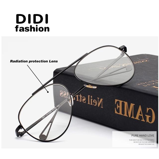 9eb4fc45d19 DIDI New Aviator Fashion Men Women Radiation protection Glasses Computer  mirror Eyeglasses Frame anti-fatigue