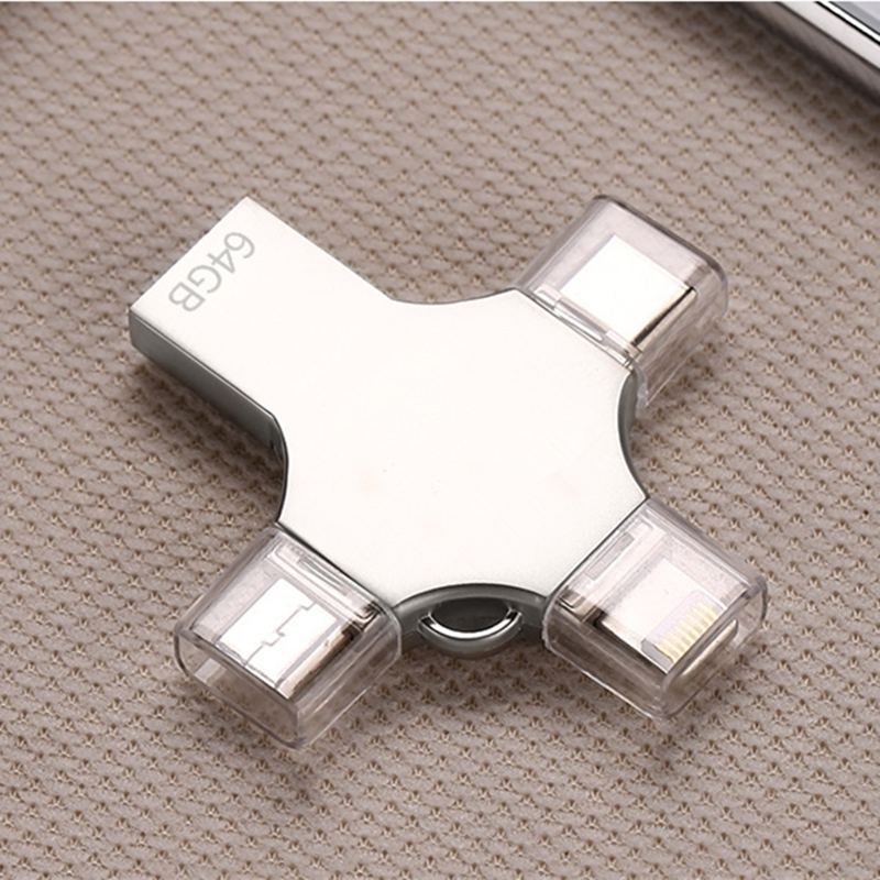 Bru 4in1 Pen Drive Otg Usb Flash Drive 3 0 Type c For Iphone ipad Android