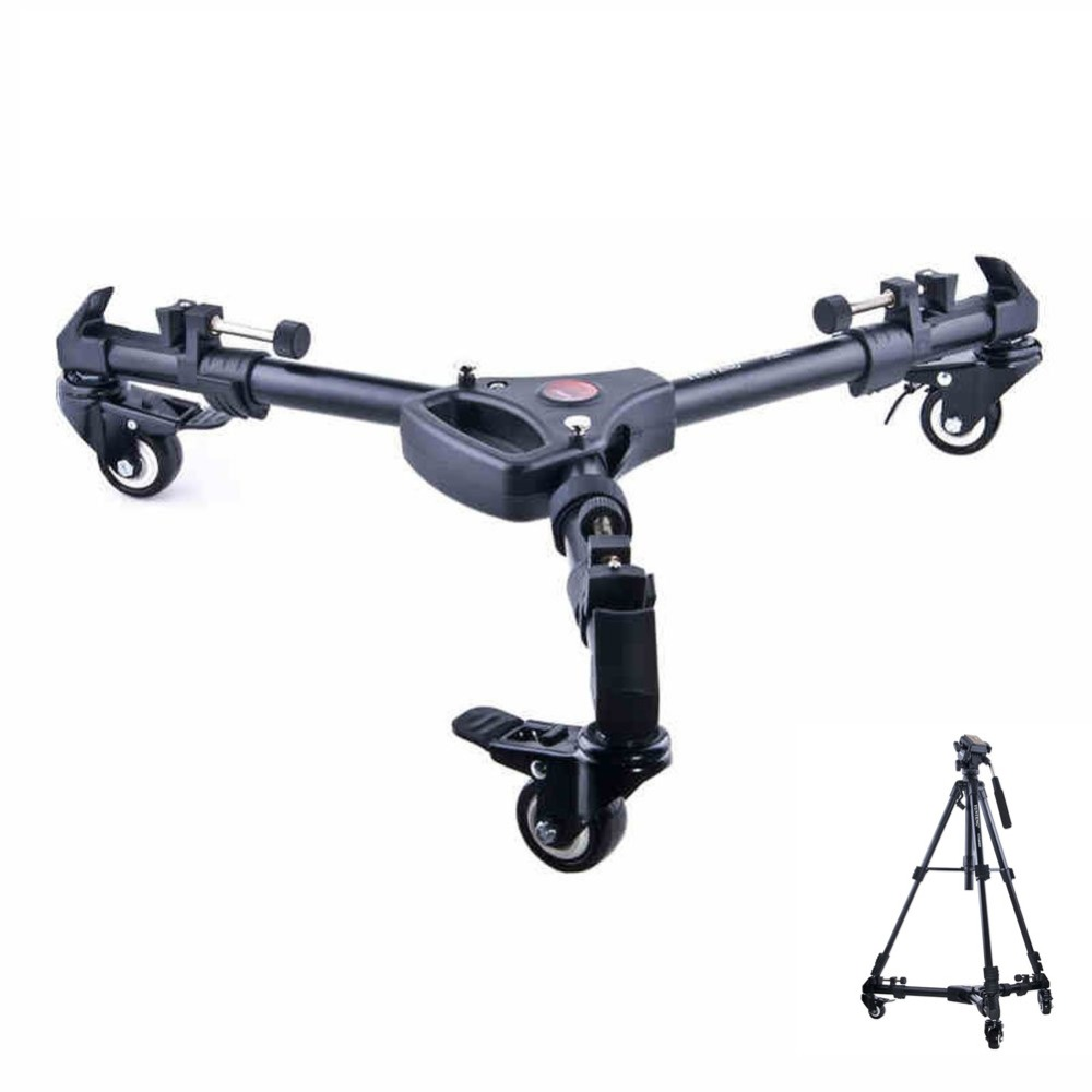 Yunteng YT-900 Professional Video Camcorder Flexible Tripod Camera Pulley Rolling Wheel Photography Universal Tripod hot sale yt 900 professional foldable tripod dolly for photo video yt 900lighting lockable 3 wheels yunteng 900
