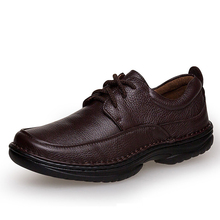 24 to 29cm Foot Length casual shoes man Autumn Winter Warm shoes Men's Full Leather shoe Black Brown Color Business dress shoes