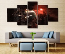 EVE Online Game 5 Piece HD Print Wall Art Canvas Artwork For Living Room Decor Painting Wall Art Canvas Home Decor Picture все цены