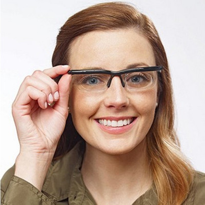 Vision Focus Adjustable lens Reading Glasses Myopia Eyeglasses -6D to +3D Diopters Magnifying Variable Strength Magnifier