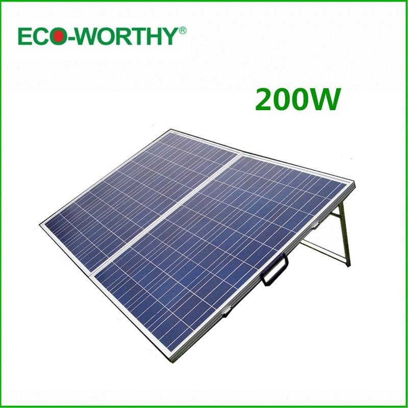 DE Stock No Tax 200W Folding Solar Panel 200W Polycrystalline Portable Solar Panle & 15A Controller 200W Solar Module Panel 12V