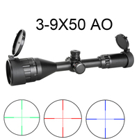 Collimator Sight 3 9x50AO Hunting Scope Air Gun Rifle Reticle Illumination Exposed Locking Turrets Riflecope Sniper Optic Sight