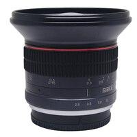 Meike 12 мм f/2,8 ультра Широкий формат объектив с фиксированным фокусным расстоянием со съемной капюшоном для Nikon N1V1 J1 Крепление камеры с APS C