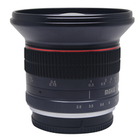 Meike 12mm f/2.8 Ultra Wide Angle Fixed Lens with Removeable Hood for Nikon N1V1 J1 mount cameras with APS C