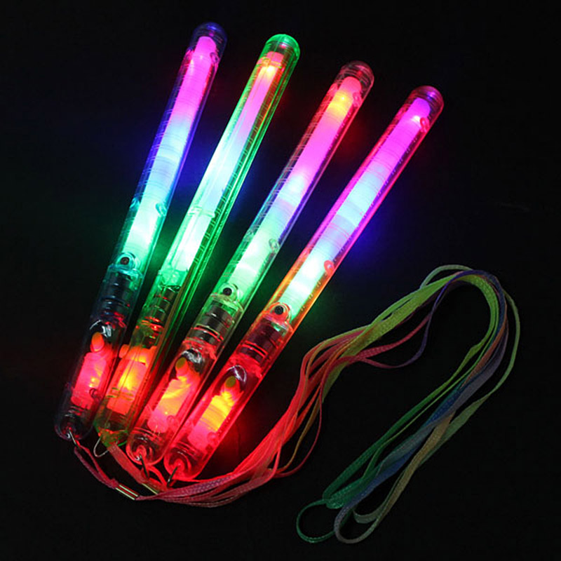 Multicolor Light Up Blinking Rave Sticks LED Flashing Strobe Wands Concerts Party Glow HB88