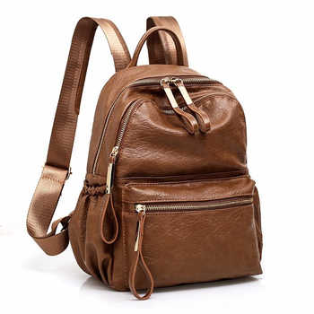 2018 Women Backpack High Quality Rucksack PU Leather Mochila Escolar Vintage Bags Backpacks Fashion Daypack - DISCOUNT ITEM  38% OFF All Category