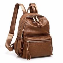 2018 femmes sac à dos de haute qualité sac à dos en cuir Mochila Escolar Vintage sacs à dos mode sac à dos