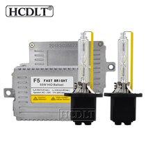 Hcdlt Премиум 55 Вт ксенон спрятал конверсию набор dlt F5 тонкий цифровой балласт 5500 K H1 H3 H7 H11 HB3 HB4 D2H H7R HID ксеноновые лампы