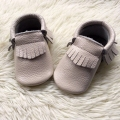 Cream Baby Moccasins Genuine Leather Toddler Shoes