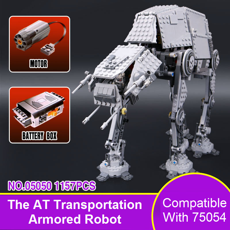New Lepin 05050 Bricks AT-AT Star Series Wars Force Awaken The AT Transpotation AT Armored Robot Building Blocks 75054 Kids Toys