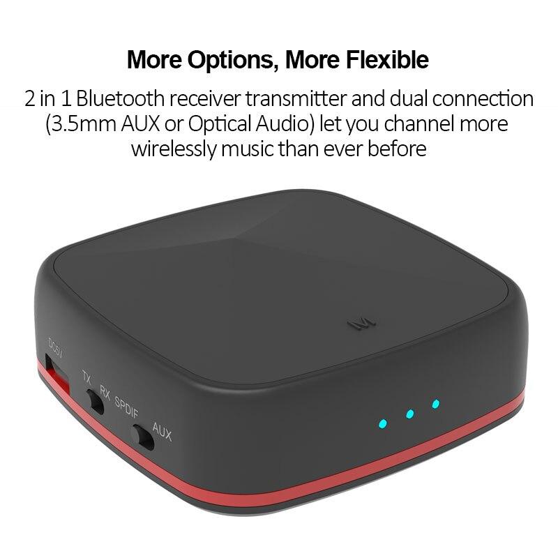 Bluetooth 5.0 récepteur émetteur CSR 8675 aptX HD adaptateur Bluetooth aptX faible latence sans fil optique Audio RCA Support AAC - 5