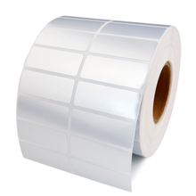 Label Sticker 40*10 mm 10000 pcs/Roll Thermal Transfer Silver PET Label Waterproof bar code