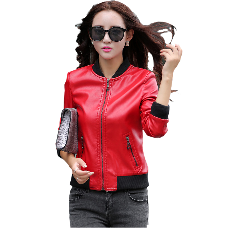 Women Spring Faux   Leather   Jacket 2018 New Spring Ladies Short Slim Style   Suede   Jacket Outwear Women Pu   Leather   Coat Female
