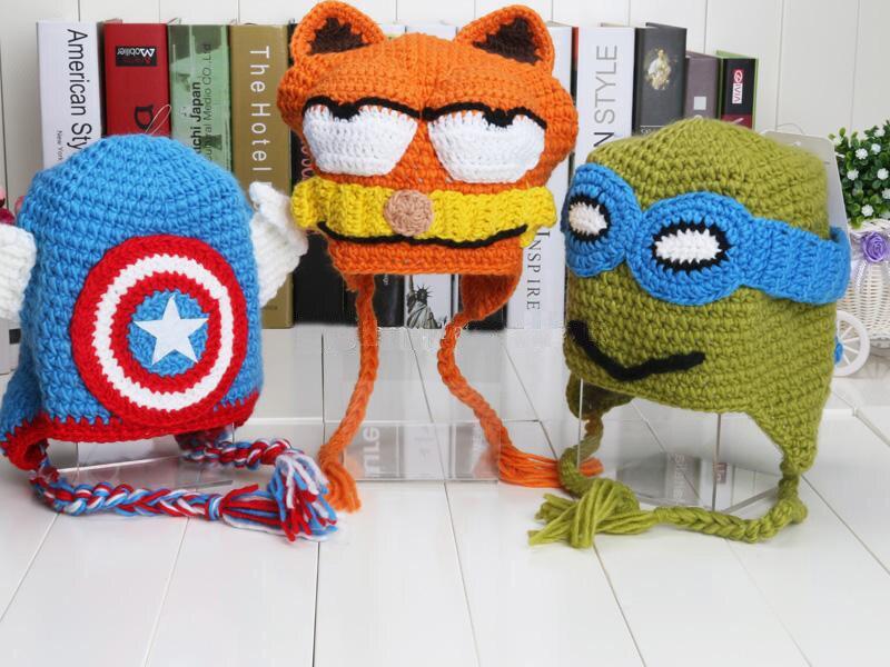 0f4c0bc9a271e Despicable Me Captain America Superman Spiderman Batman Iron Man Super Hero  Boys FOX Xmas Hat Crochet Beanie Winter Baby Boy Cap-in Hats   Caps from  Mother ...