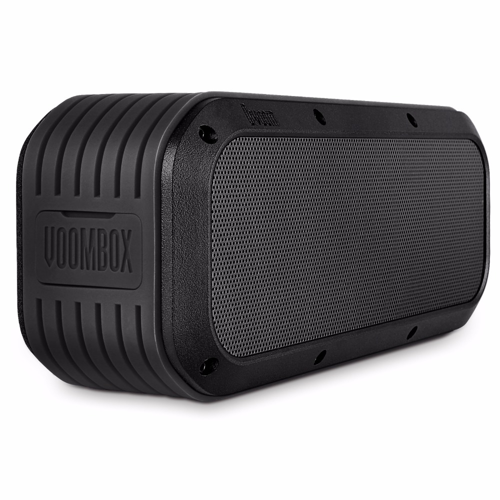 Voombox-Outdoor Water Resistant Bluetooth Speakers Output In 15W And 12 Hours Playback (Black)