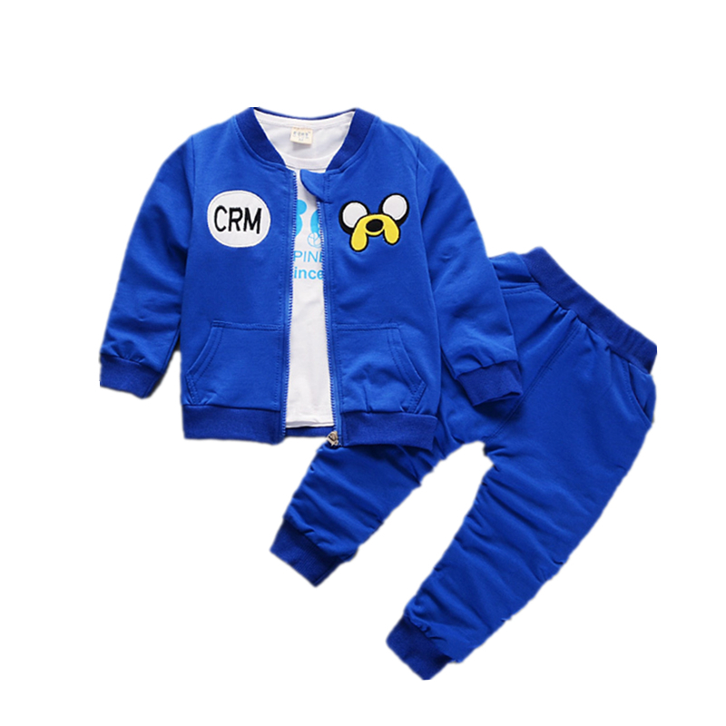 2018 Spring Baby Girls Boys Clothes Sets Children Cartoon Puppy Pattern Cotton Coats T Shirt Pants 3Pcs Infant Kids Active Suits malayu baby kids clothing sets baby boys girls cartoon elephant cotton set autumn children clothes child t shirt pants suit