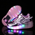 New 2016 Golden Child Fashion Girls Boys LED Light Roller Skate Shoes For Children shoes Kids Sneakers With Wheels
