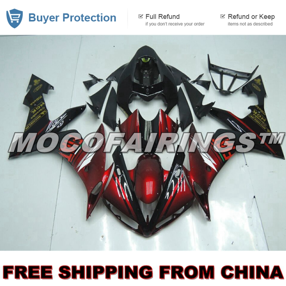 CANDY RED FREE SHIPPING ABS OEM Fitment Fairings Kits Set Cowling For Yamaha YZF R1 YZF R1 2004 2005 2006 FIAT Full Bike Body