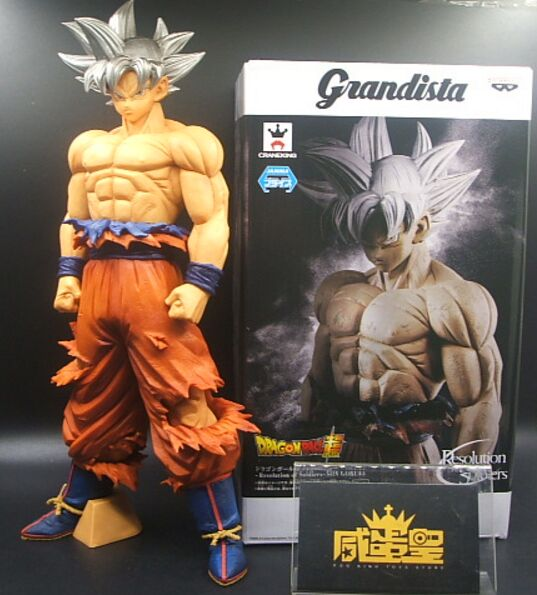 Original BANPRESTO Grandista GROS Goku UI Ultra Instinct ROS Dragon Ball super DBZ Model Son Gokou