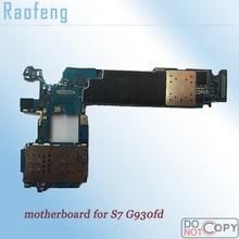 Raofeng разблокирован для samsung galaxy S7 G930fd материнская плата весь функция плата с двумя сим-картами со всеми ЧИПАМИ логическая плата
