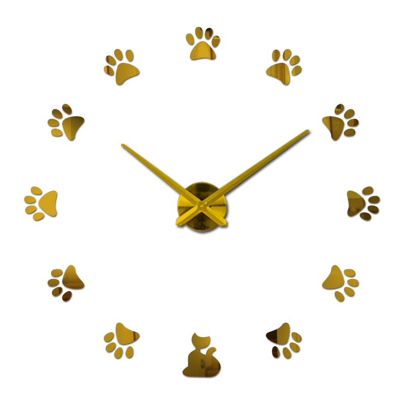 nové nástěnné hodiny reloj de pared quartz hodinky evropa horloge domácí obývací pokoj 3d akrylové zrcadlo vintage hodiny