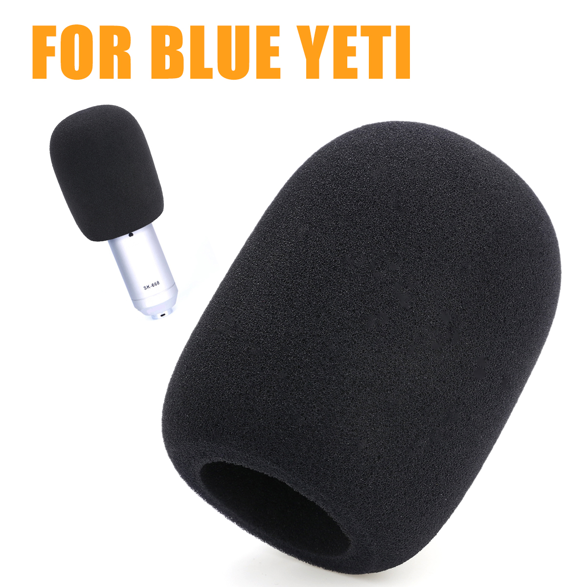 Mayitr 1pc Windscreen Microphone Windshield Sponge Mic Ball Shape Foam Cover For Blue Yeti Condenser Microphone