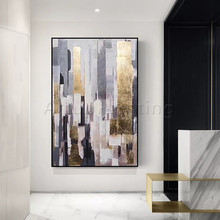 Geometric Hand-painted abstract Oil painting Wall art for Living room wall decor canvas quadros caudros decoracion