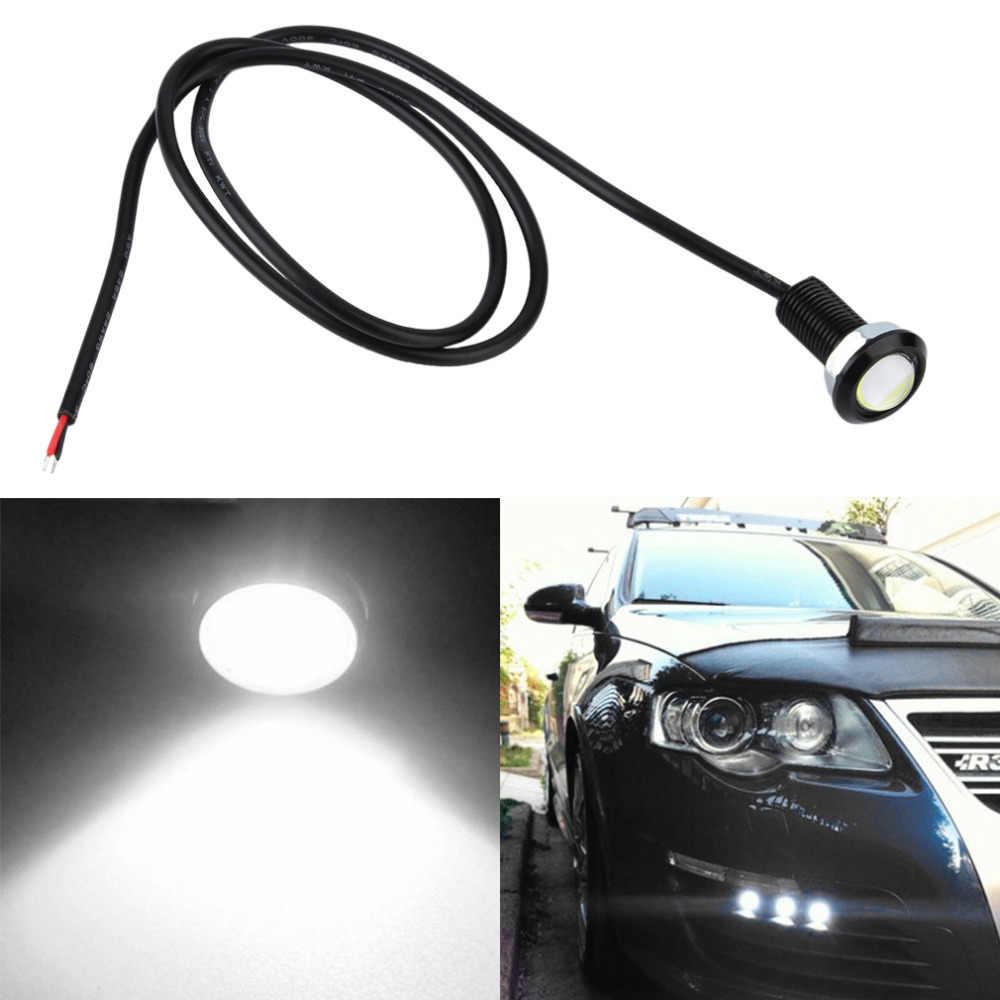 1 sztuk 18MM Led drl eagle eye światła dzienne źródło Backup cofania Parking lampy sygnalizacyjne wodoodporne