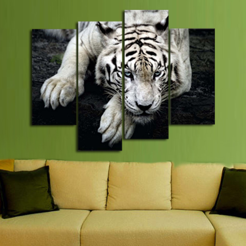 canvas Wall Art Painting Pictures Print On Canvas Animal Black and ...
