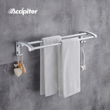 Free Shipping double Towel Bar Holder Made Chrome Finish Bathroom hardware accessories
