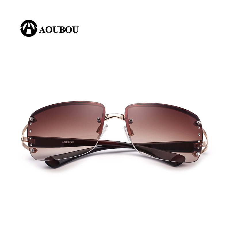 Vintage randlose sonnenbrille frauen luxus diamant design weißes - Bekleidungszubehör - Foto 4
