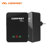 Barato! líneas eléctricas ue adaptadores homeplug plc ethernet 200 mbps de red comfast 2.4 ghz wifi cf-wp200m router power line kit extensor