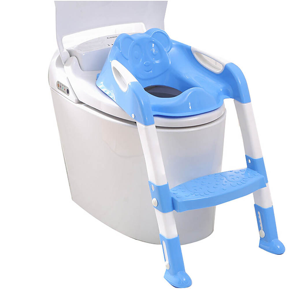 EN71 New Design Portable Folding Ladder Toilet Baby Potty Training Chair Plastic Toilet Stand Seat For Children Baby