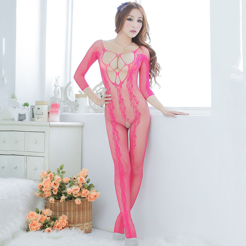 Hot Women Sexy lingerie Robe Sexy Costumes Bodystocking Nightdress Babydolls See Through Sheer Mesh Underwear Intimates