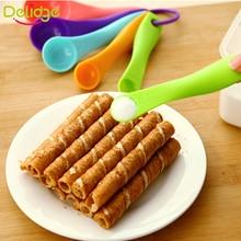 Delidge 5pcs/set Measuring Spoons Colorful Plastic (1 / 2.5 / 5 / 7.5/ 15ml)  Measure Spoon Super Useful Sugar Cake Baking Spoon