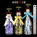 200ml/250ml/300ml Glass vase bottle with cork wishing bottle luck star bottle Creative Decorative Vials Valentine's day gift