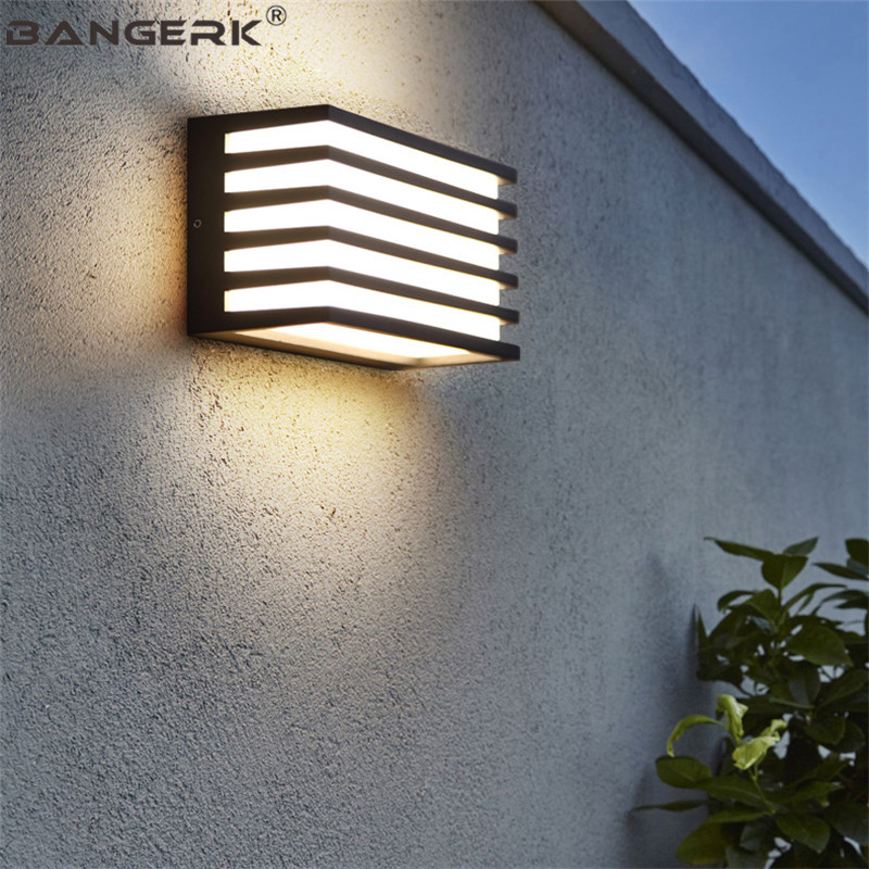 Us 52 4 36 Off Modern Outdoor Wall Lamp 9w Led Porch Lights Fixtures Waterproof Rust Sconce Wall Lamps Garden Balcony Home Aluminum Lighting In