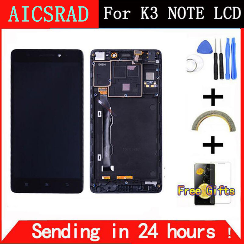Q&Y QYJOY 5.5 inch For Lenovo K50-T5 K3 Note LCD Display Digitizer Touch Screen assembly free tools replacement