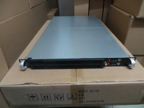 1U770mm двойной материнская плата компьютер чехол Стойки для шасси серверов компании IDC почте