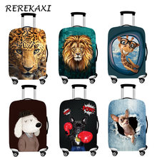 REREKAXI Suitcase Luggage Cover Animal Elastic Baggage Dust Protection Trunk Case Cover For 18-32Inch Trolley Travel Accessories(China)